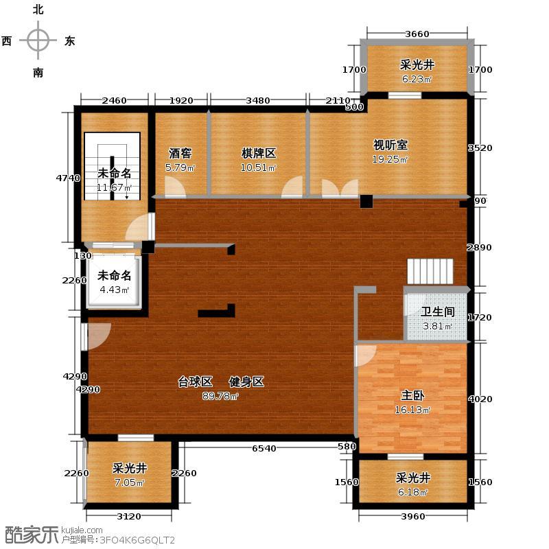郡原相江公寓155.90㎡12-24号楼多层F-B1地下夹层户型3室2厅2卫