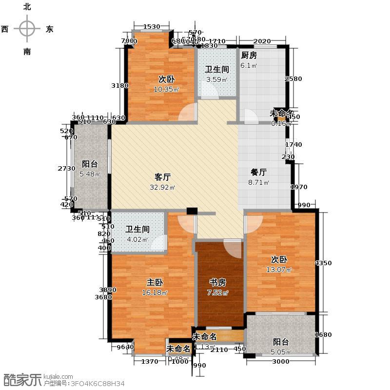 江南名苑143.98㎡C1户型4室2厅2卫