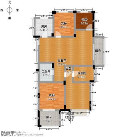 德信早城4室1厅2卫1厨123.00㎡户型图