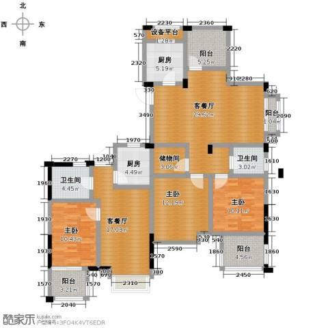 德信早城3室2厅2卫2厨141.00㎡户型图