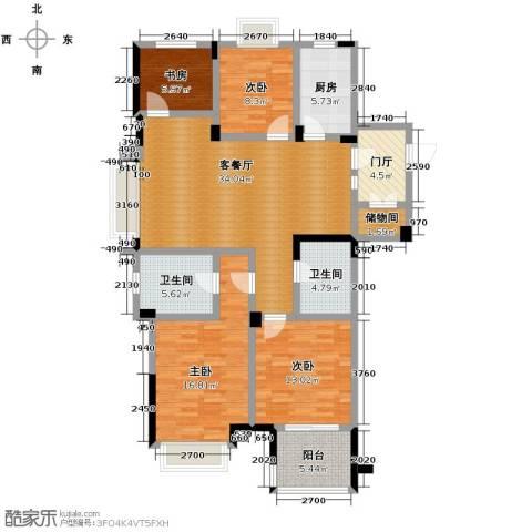 德信早城4室1厅2卫1厨127.00㎡户型图