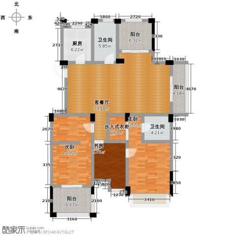 德信早城3室1厅2卫1厨137.00㎡户型图