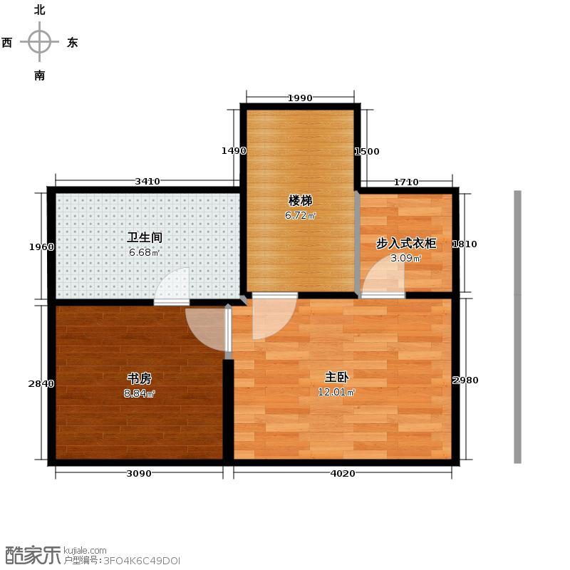 万科良渚文化村柳映坊二期180.00㎡顶跃A立面上层户型4室2厅3卫