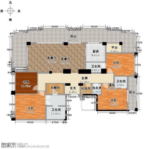 丁香公馆4室1厅3卫1厨309.00㎡户型图