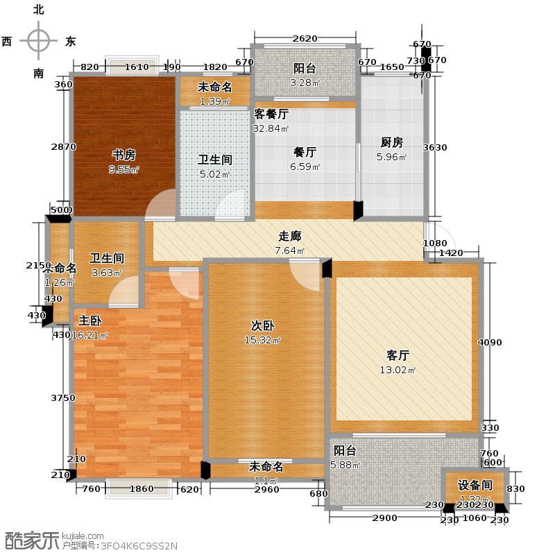 帝凯帝景园121.00㎡B3户型3室1厅2卫1厨