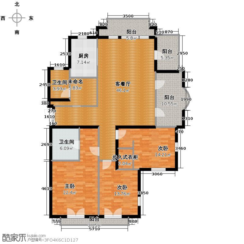 翡翠城163.77㎡户型10室
