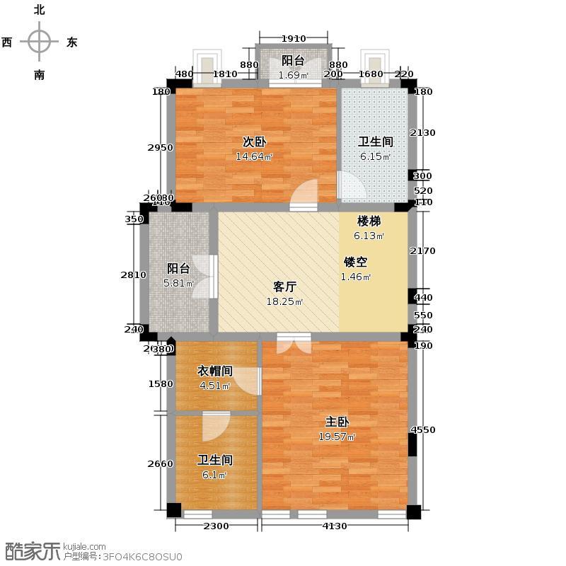 野风山279.92㎡B2三层户型5室2厅4卫