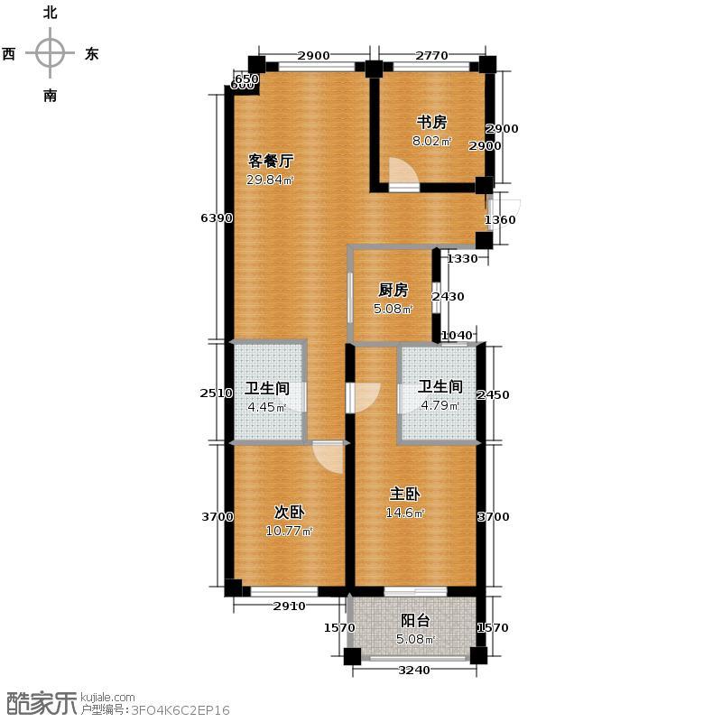 嘉凯城名城博园109.00㎡3G户型3室2厅2卫