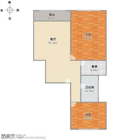 金地湾流域2室1厅1卫1厨195.00㎡户型图