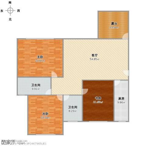 万科优诗美地3室1厅2卫1厨226.00㎡户型图