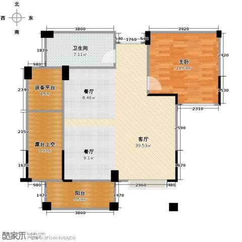 康恒悦麒美寓1室1厅1卫0厨88.00㎡户型图