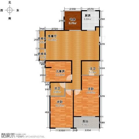 天阳尚城国际4室2厅2卫0厨127.00㎡户型图