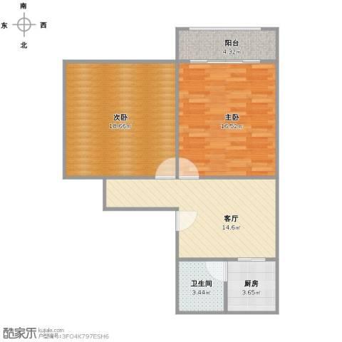 同济路1111弄2室1厅1卫1厨82.00㎡户型图