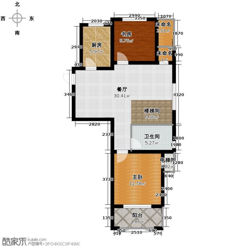 高运学林尚苑114.61㎡D下层户型5室2厅2卫