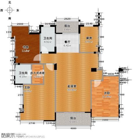 金成江南春城庭院深深3室0厅2卫1厨153.00㎡户型图