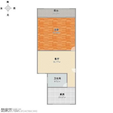 栖山路1861弄小区1室1厅1卫1厨141.00㎡户型图