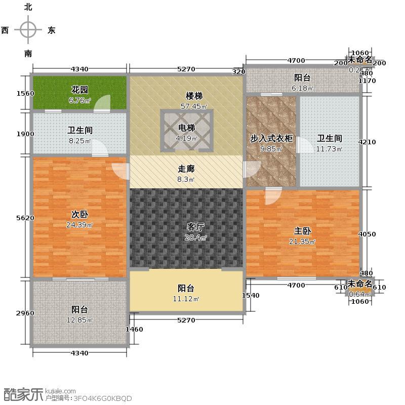 和家园171.88㎡阳光宽墅二层户型10室