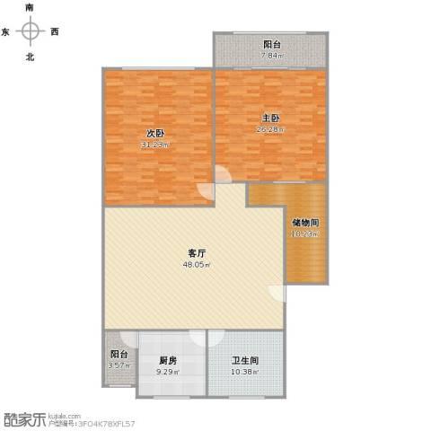 申地公寓2室1厅1卫1厨194.00㎡户型图