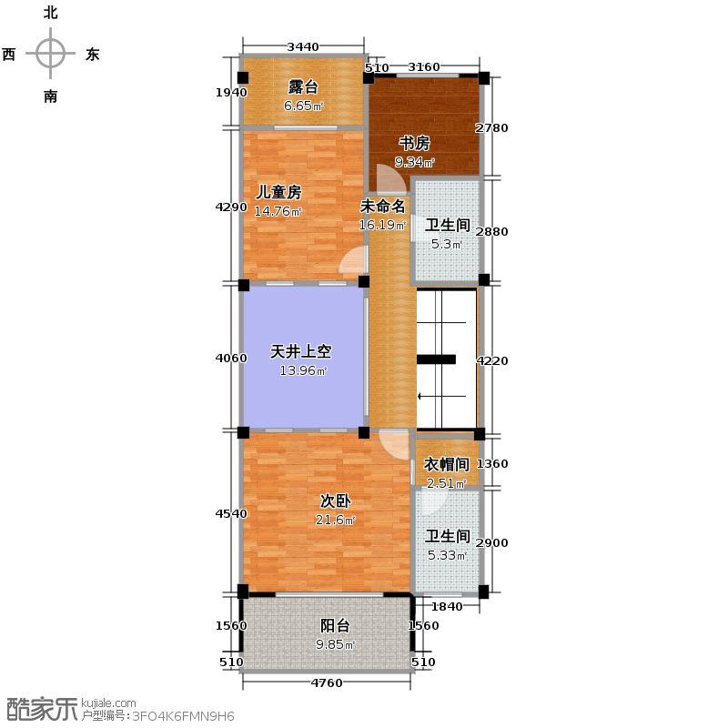 昆仑天籁210.00㎡乐墅二层户型10室