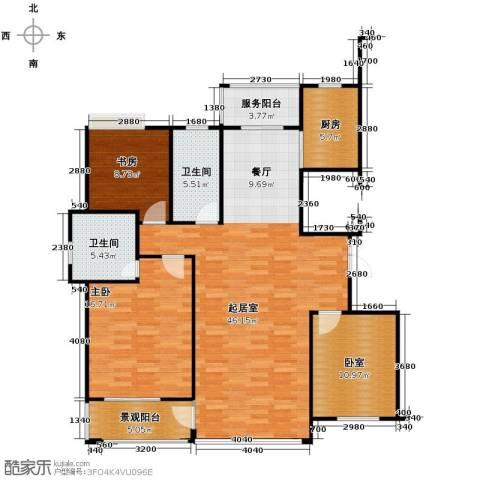 金成江南春城庭院深深2室0厅2卫1厨145.00㎡户型图