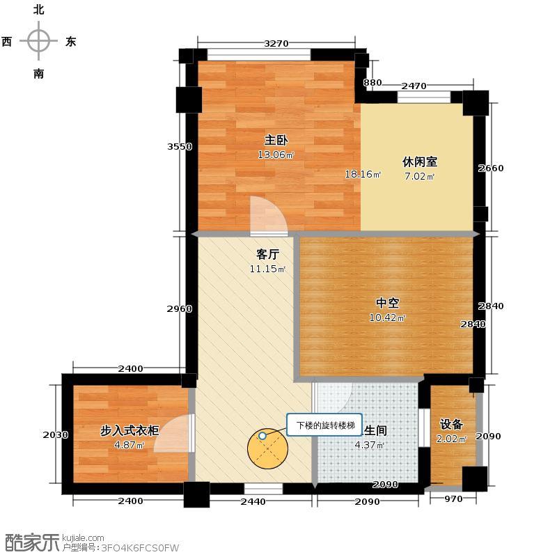海辰水岸晶座71.94㎡二层平面图户型10室