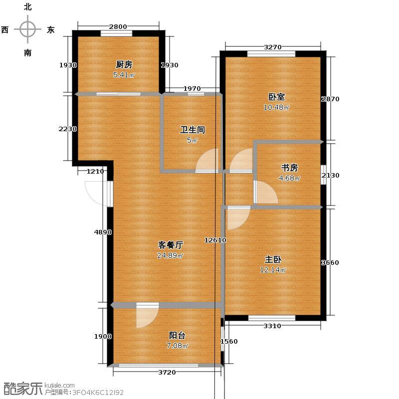 星桥桂花城89.00㎡19-1-301型户型10室