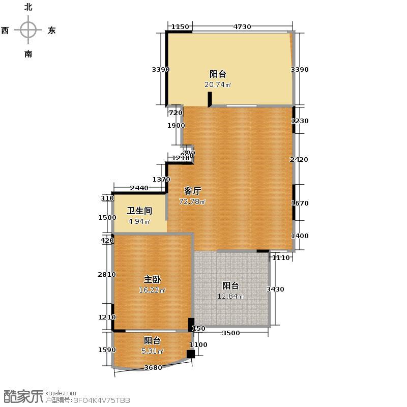 秋涛雅苑207.00㎡户型1室1厅