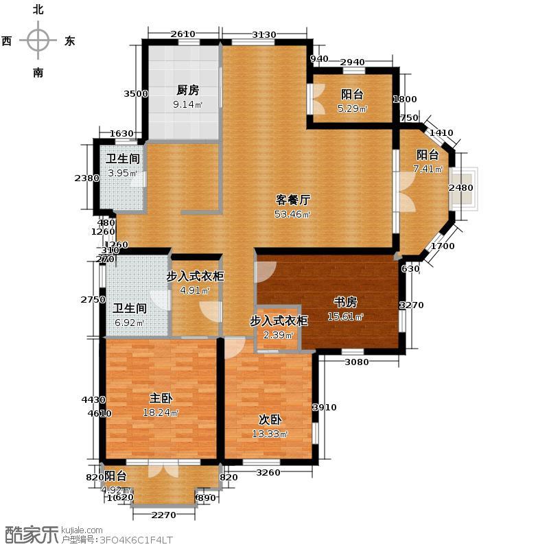 翡翠城160.00㎡D户型10室