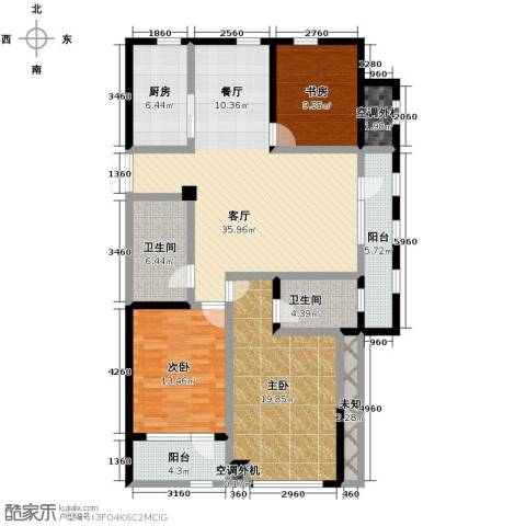 泊悦府3室2厅2卫0厨135.00㎡户型图