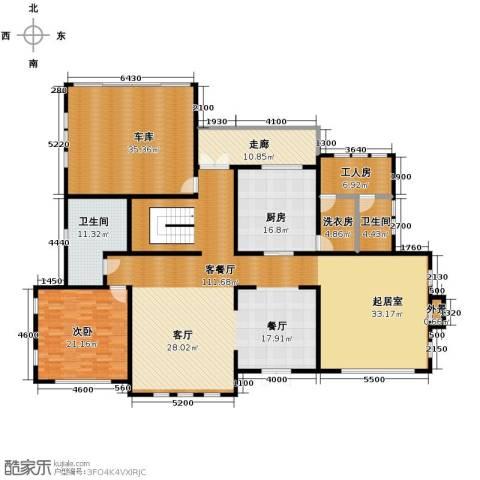 汀香别墅二期1室1厅2卫1厨405.00㎡户型图