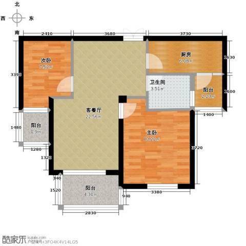 星洲花园2室1厅1卫1厨88.00㎡户型图