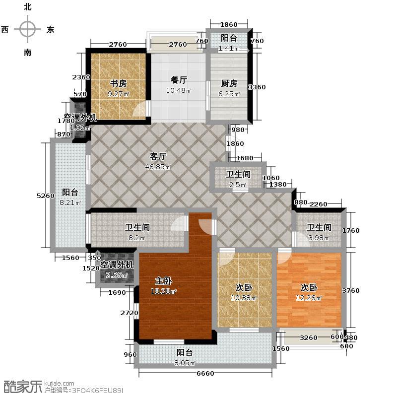 滨江万家星城162.24㎡J2户型10室