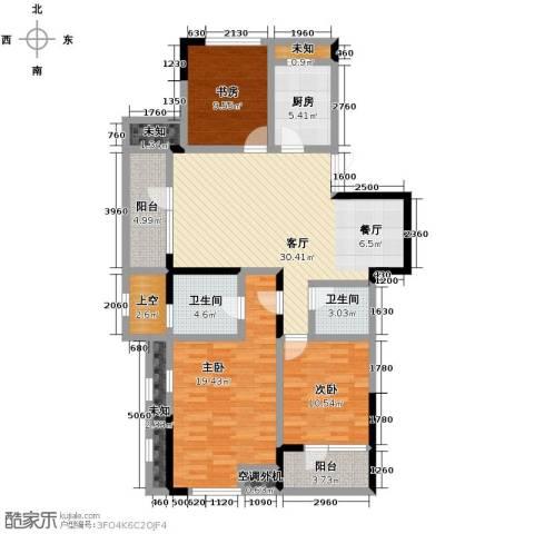 泊悦府3室2厅2卫0厨117.00㎡户型图