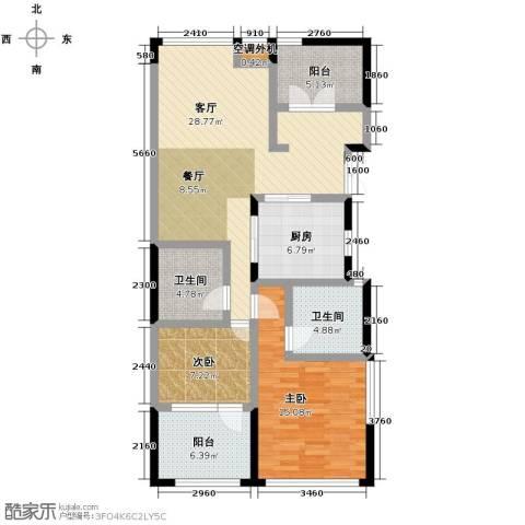 泊悦府3室2厅2卫0厨103.00㎡户型图