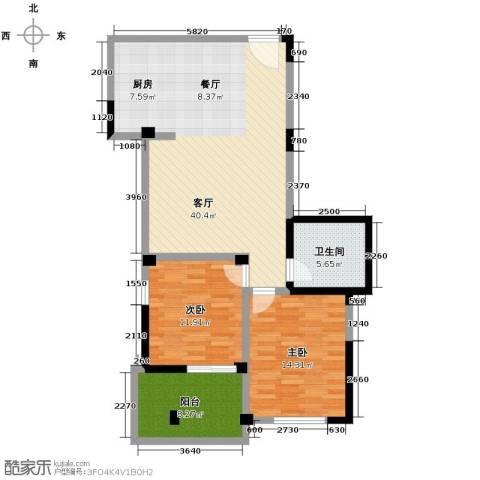多蓝水岸2室1厅1卫0厨104.00㎡户型图