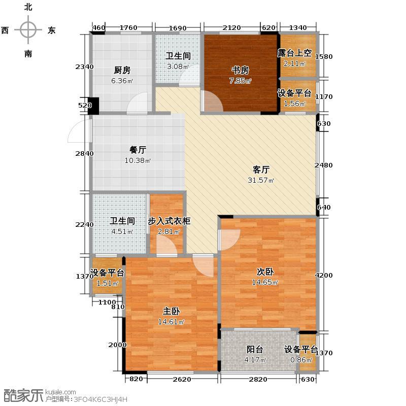 望城107.28㎡G-R户型3室2厅2卫