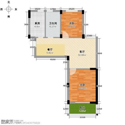阳光逸城2室1厅0卫0厨78.00㎡户型图