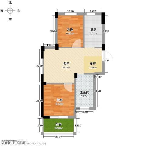 阳光逸城2室1厅0卫0厨62.00㎡户型图