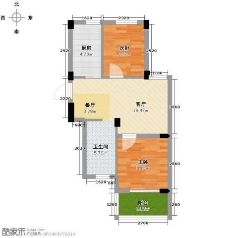 阳光逸城2室1厅0卫1厨62.00㎡户型图