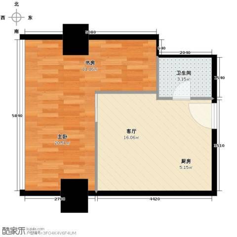 大都文苑风情1室1厅1卫0厨68.00㎡户型图