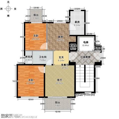 新华园2室1厅1卫1厨147.33㎡户型图