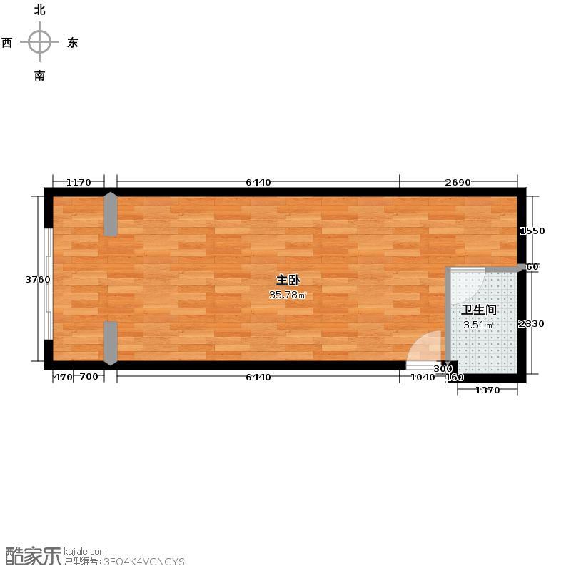 方正360空间65.00㎡8户型1室1卫