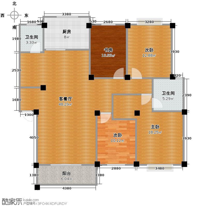 新桥公寓141.33㎡户型4室1厅2卫1厨