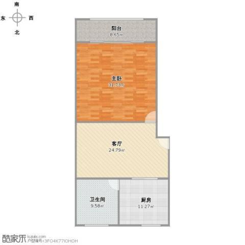 宝南小区1室1厅1卫1厨114.00㎡户型图