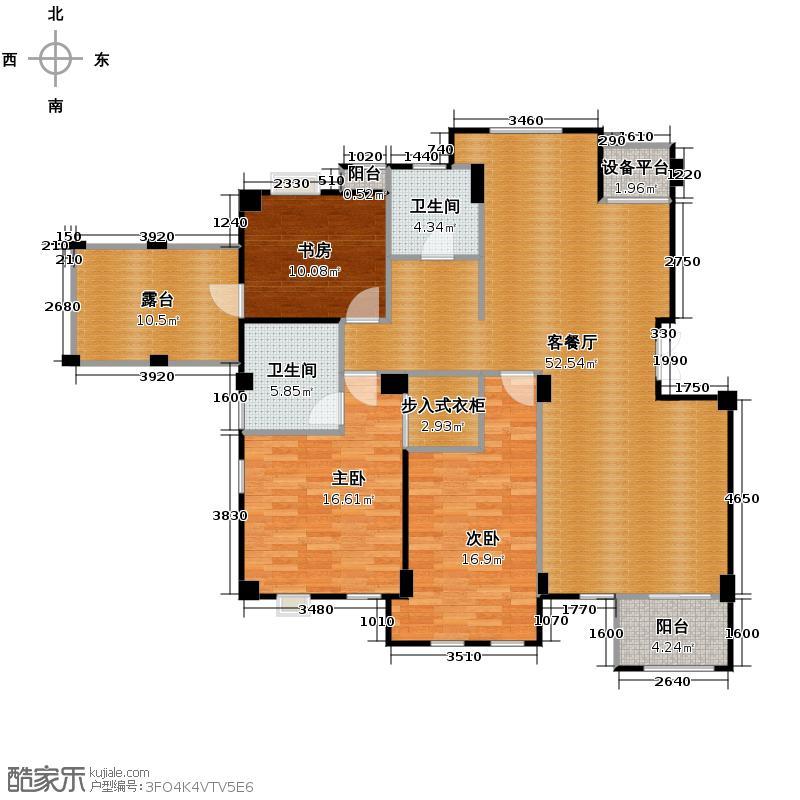 戈雅公寓135.74㎡户型3室1厅2卫