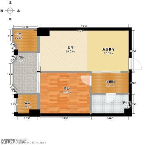 丁香公馆1室1厅1卫0厨84.00㎡户型图