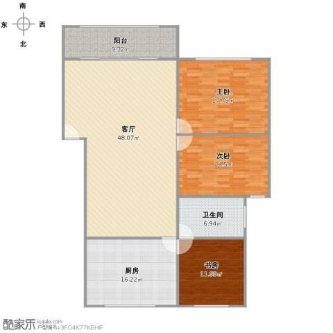嘉泰花园公寓3室1厅1卫1厨165.00㎡户型图