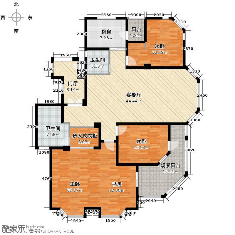 仁和金鼎公寓161.98㎡户型3室1厅2卫1厨