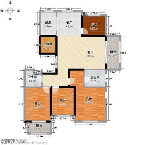 绿城翡翠湾4室1厅2卫1厨137.00㎡户型图