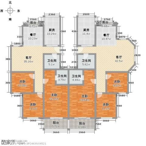宋都梅苑人家6室2厅4卫2厨219.73㎡户型图